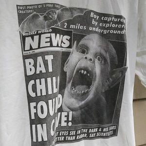 RARE🌠 Weekly World News Tabloid Bat Boy Shirt